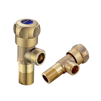 Thick Brass Triangle Valve Cold And Hot Water