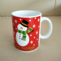 white porcelain mug with decal