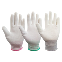 PU Coated Wear-resistant Plastic Protective Gloves