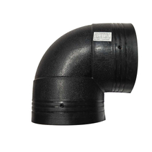 PE Pipe Fitting Elbow 90 Degree Butt Fusion Elbow for Water Supply
