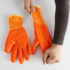 Terry Cloth Plus Velvet Warm PVC Cold Protection Gloves