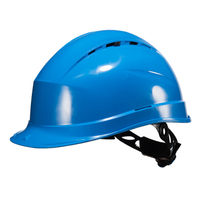 PP Safety Helmet Breathable Woven Lining Knob Construction