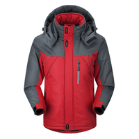 Windproof and coldproof hooded plus size plus velvet padded jacket