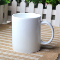 China Linyi cheap white porcelain mug