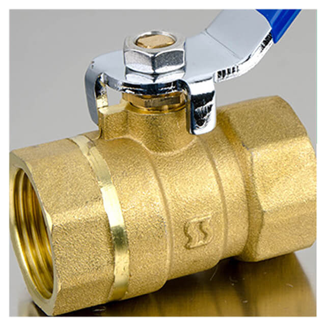 New Medium Ball Valve Two Piece Double Internal Teeth