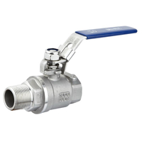304 Stainless Steel Two-piece Internal And External Wire Ball Valve