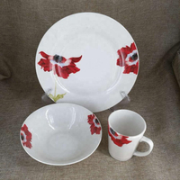 12pcs dinner set with decal