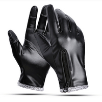 Leather Winter Warm Gloves Outdoor Sports